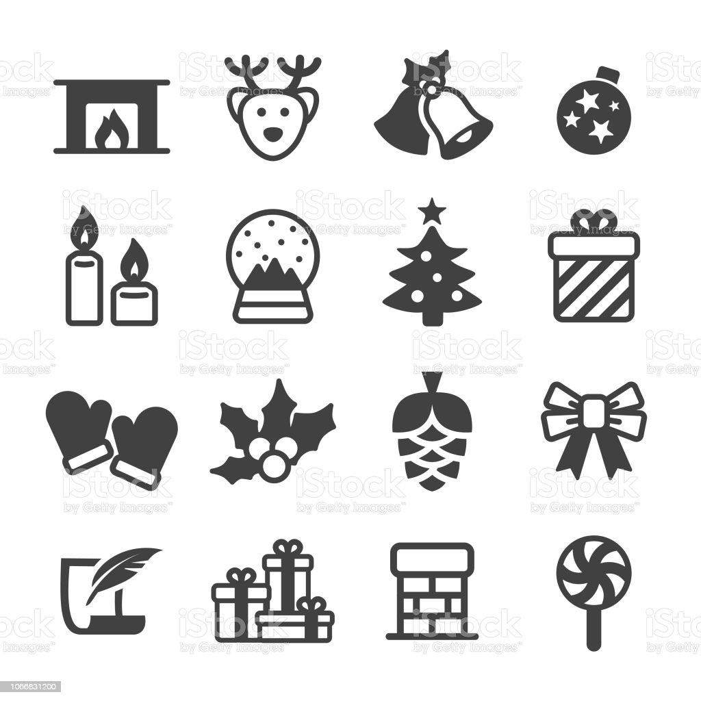 Christmas Icon Set Acme Series Stock Illustration Download Image Now