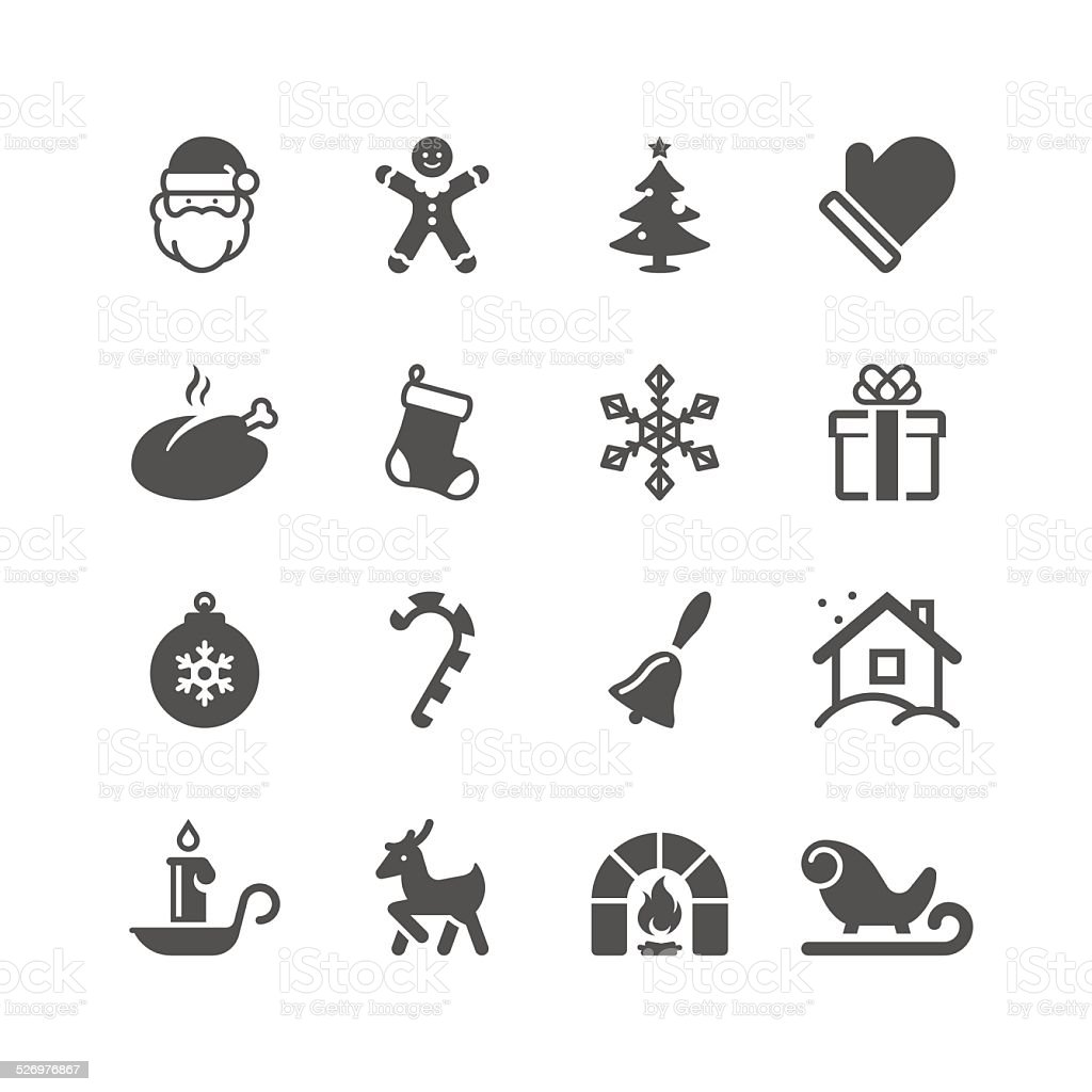 Christmas Icon Set | Unique Series vector art illustration