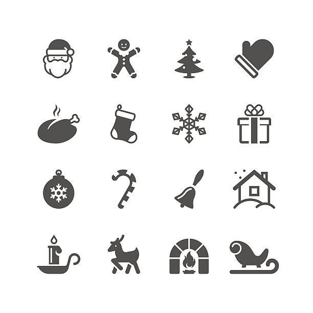 Christmas Icon Set | Unique Series vector art illustration