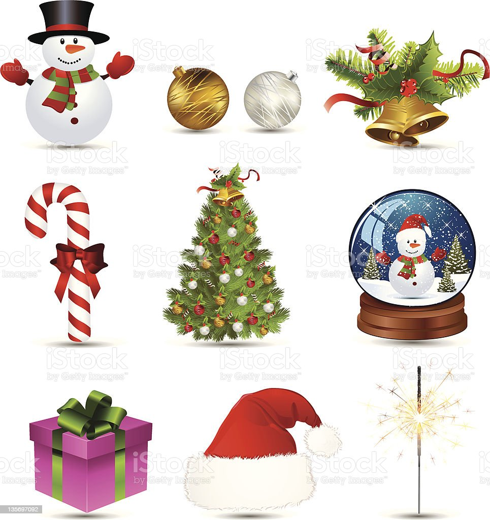 Christmas icon set royalty-free stock vector art