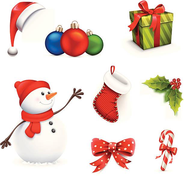 Weihnachts-Set-Icon – Vektorgrafik