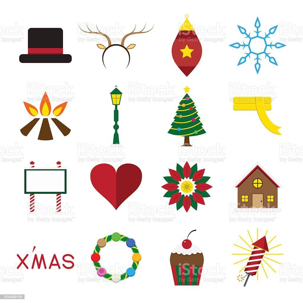 Immagini Vettoriali Natale.Icona Set Di Illustrazione Vettoriale Di Natale Immagini