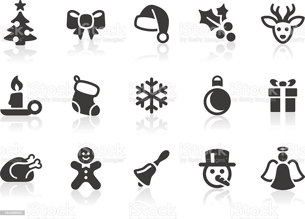 Christmas icons 1 vector art illustration
