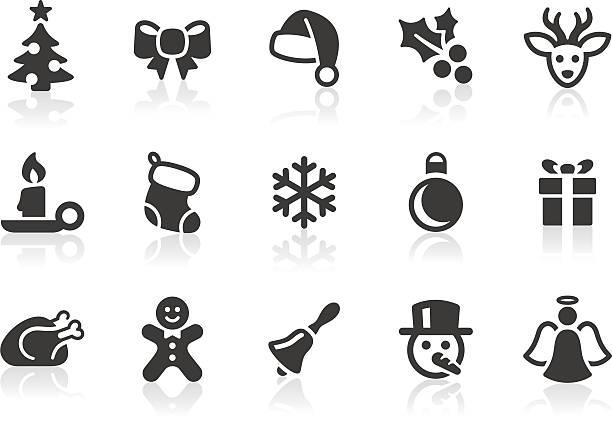 stockillustraties, clipart, cartoons en iconen met christmas icons 1 - chicken bird in box