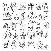 Christmas Icons - Big Line Series stock illustration