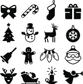 Christmas holiday icon set. Professional clip art for your print or Web project. See more icons in this series.