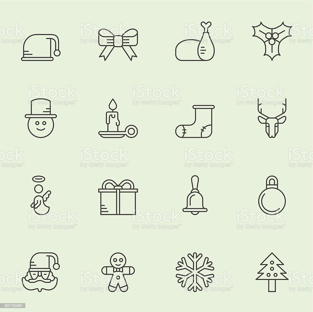 Christmas Icons - Light Color royalty-free stock vector art