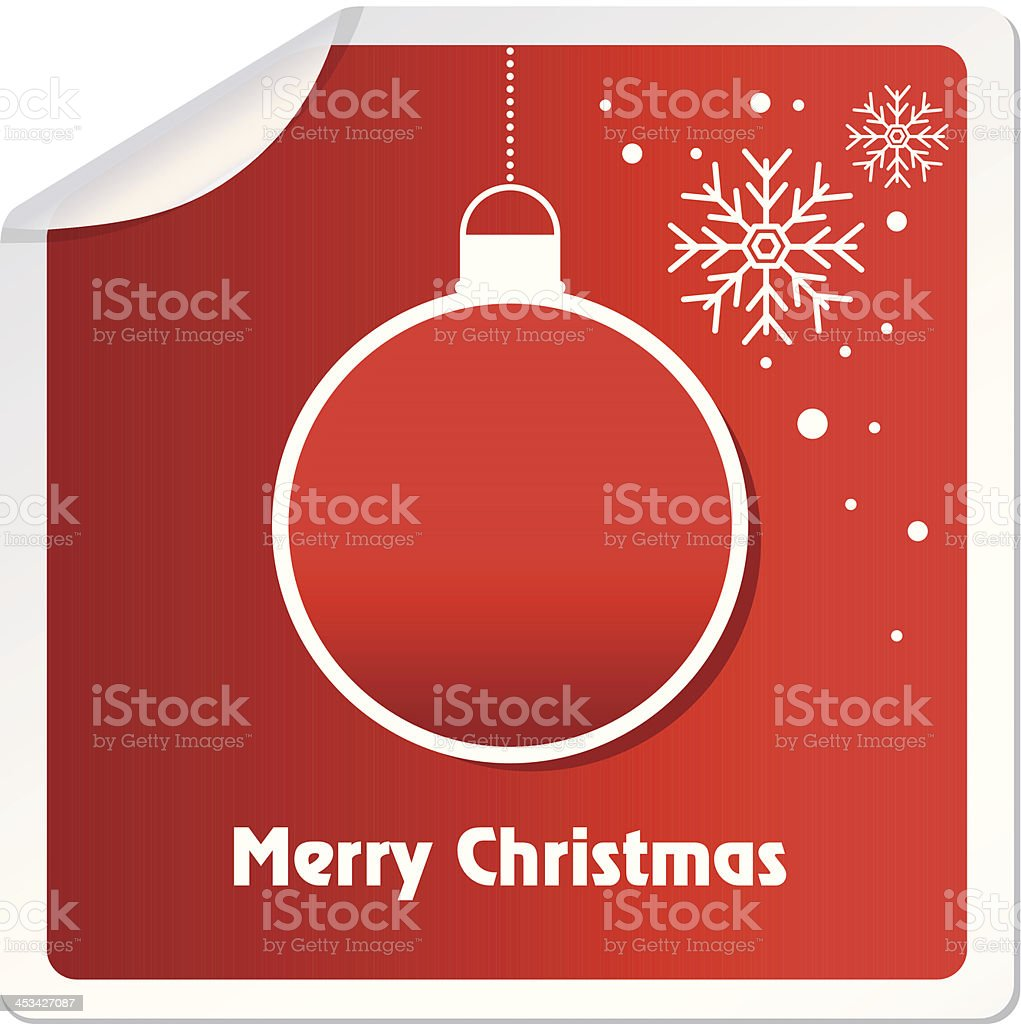 Christmas icons on sticker royalty-free stock vector art