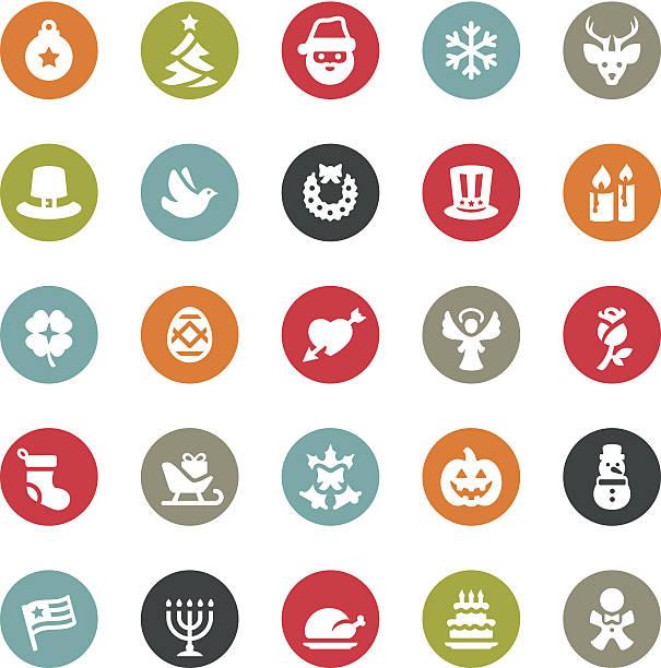 weihnachts-icons/ringico series - ferien  und feiertagssymbole stock-grafiken, -clipart, -cartoons und -symbole