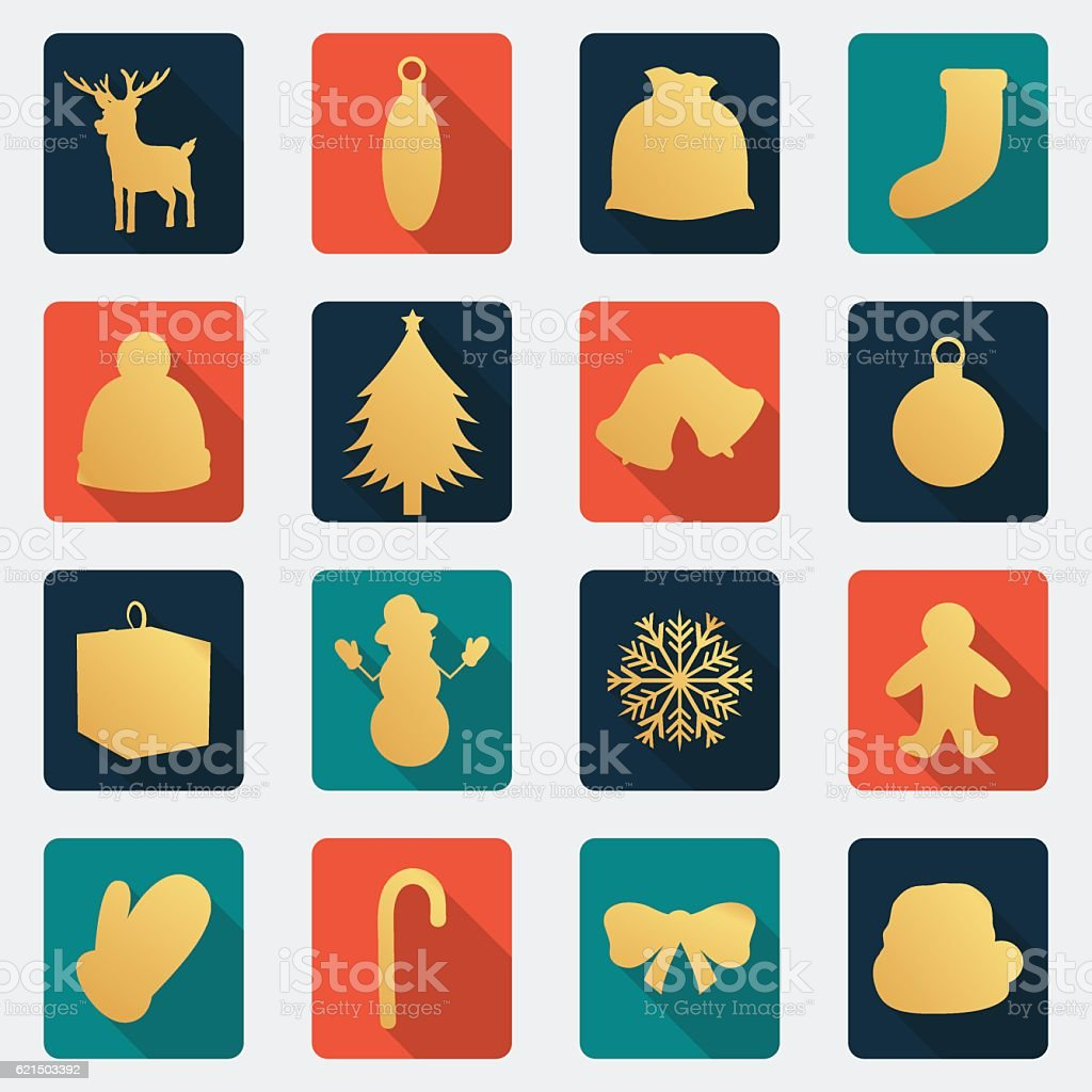 Christmas Icons set. Flat design. Vector christmas icons set flat design vector - immagini vettoriali stock e altre immagini di adulto royalty-free