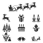 Christmas icons set , vector illustration