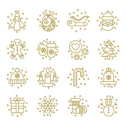 Christmas Icons Set - Vector