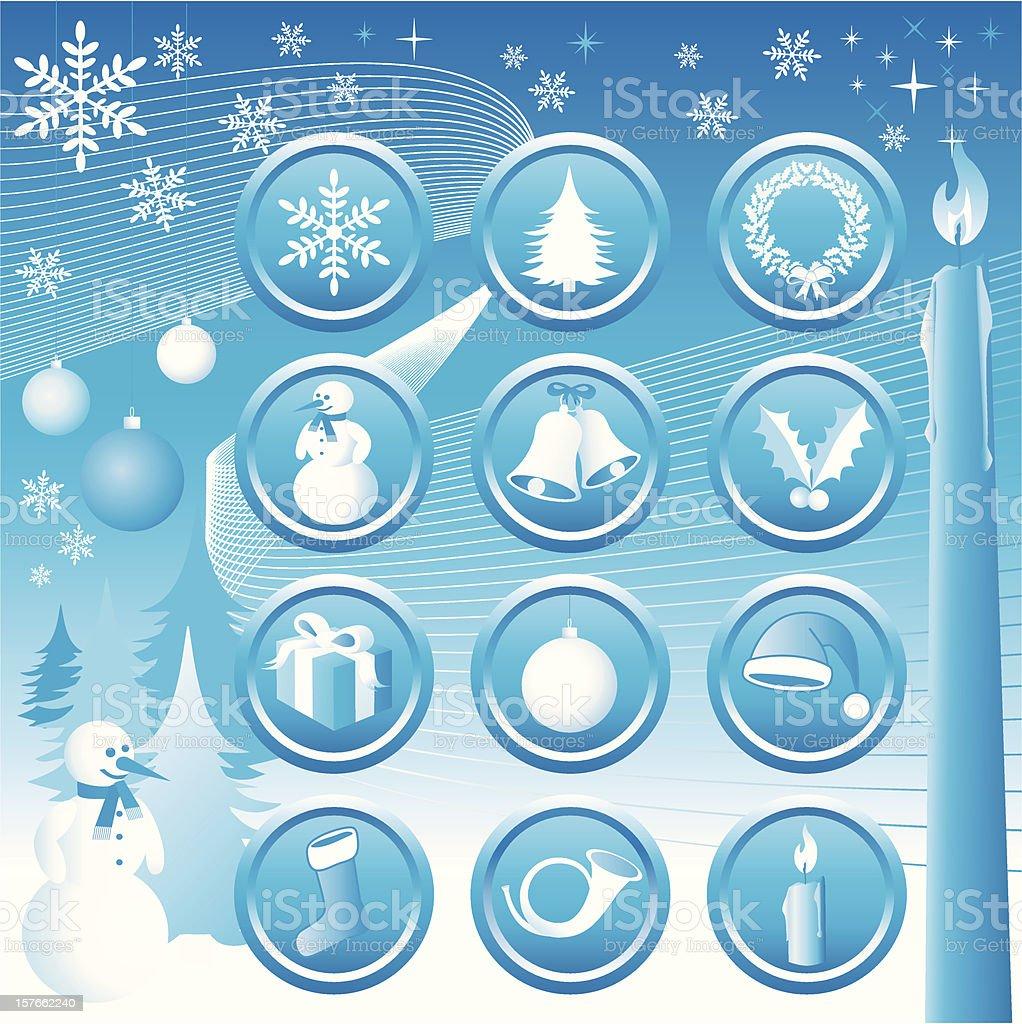 Christmas Icons Set - Vector royalty-free stock vector art