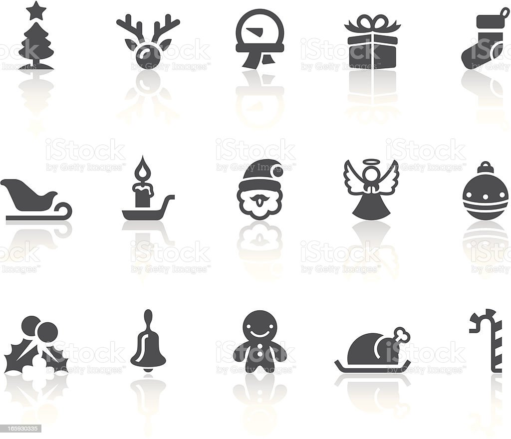 Christmas Icons   Simple Black Series royalty-free stock vector art