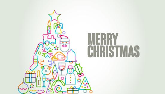 Christmas Icons Tree