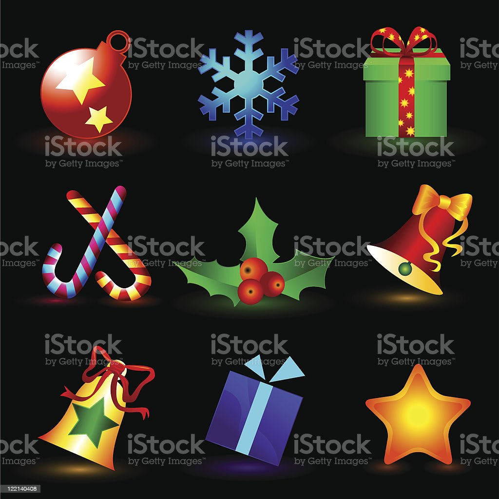 christmas icons royalty-free stock vector art