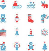 Christmas Icons Set. Additional Zip file contains: .AI(8), PDF and High res JPEG.