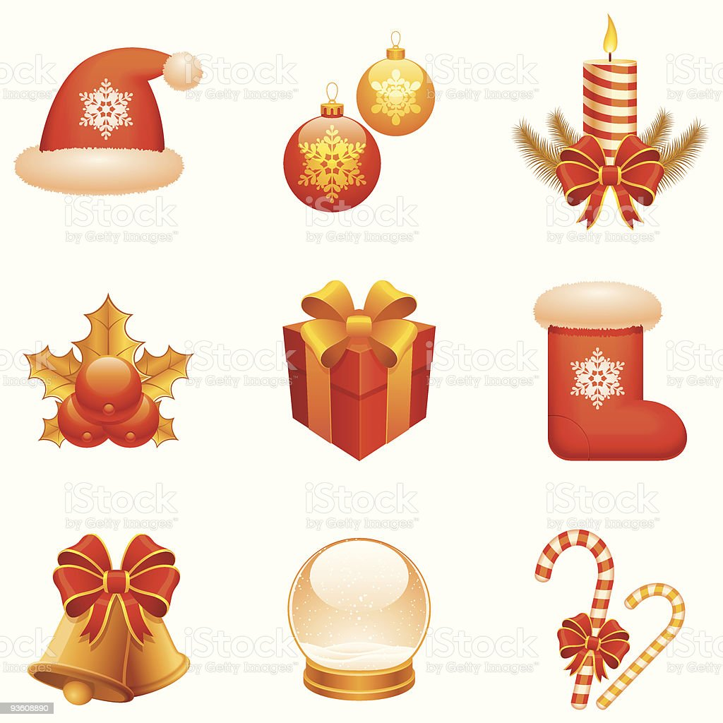 Christmas icons. royalty-free stock vector art