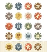 Christmas Icons : Vintage Badge Series