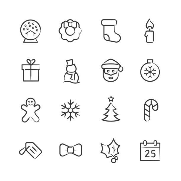 Christmas Icons—Sketchy Series vector art illustration