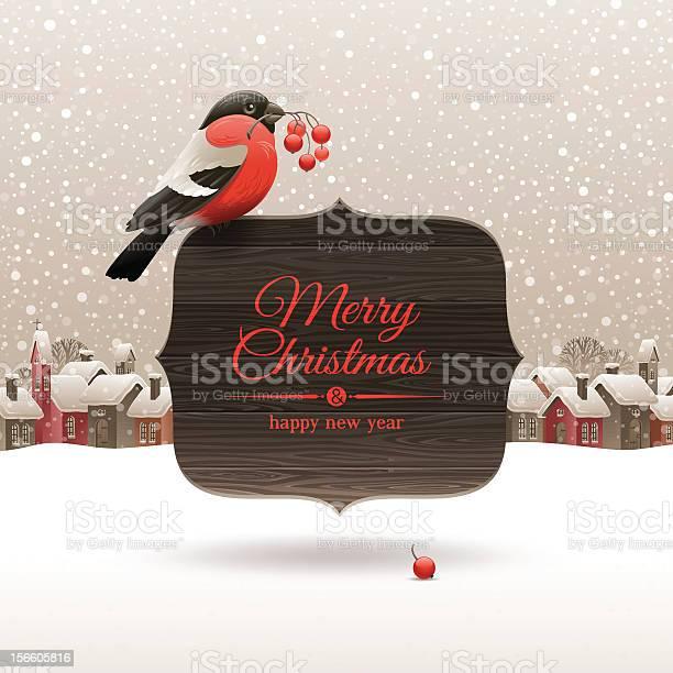 Christmas illustration bullfinch and winter village vector id156605816?b=1&k=6&m=156605816&s=612x612&h=opdlkcacg6rt5oriwxsm f25wqjo 2brijfoo  7ioy=
