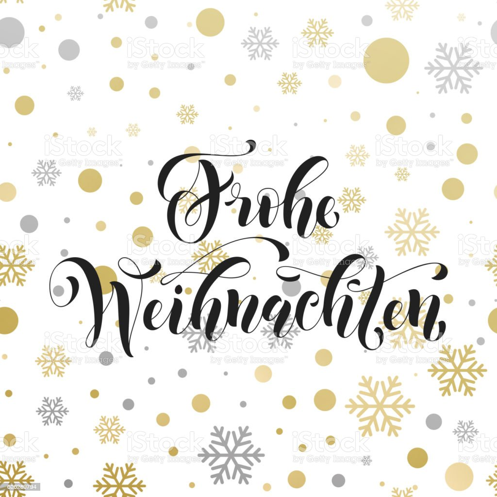 Christmas in Germany Frohe Weihnachten decorative vector greeting - Royalty-free Alman Kültürü Vector Art