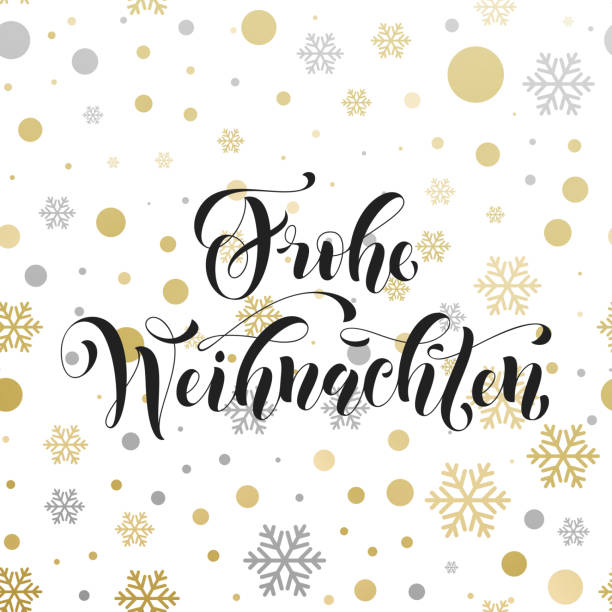 christmas in germany frohe weihnachten decorative vector greeting - weihnachten stock illustrations