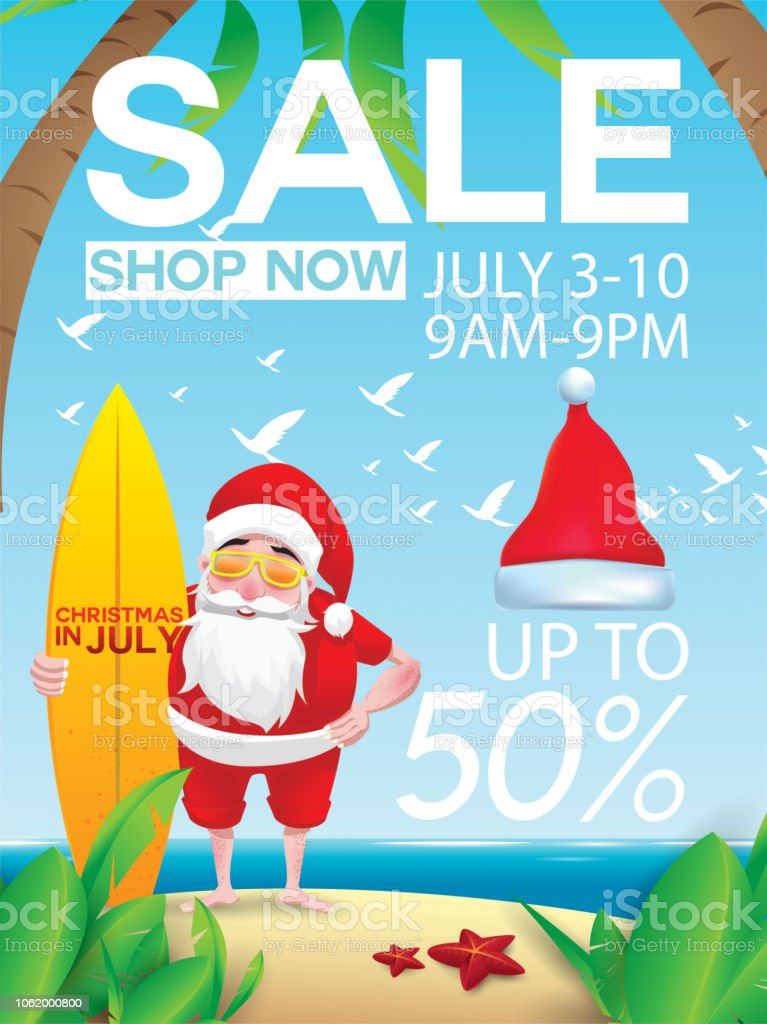 Christmas In July Royalty Free Images.Christmas In July Design With 3d Concept Stock Illustration Download Image Now