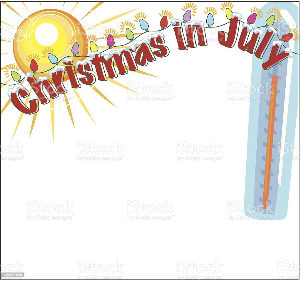 Christmas In July Clipart Free Download.Christmas In July Frame C Stock Illustration Download