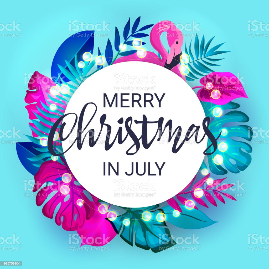 Christmas In July Clipart Free Download.Christmas In July Sale Marketing Template Eps 10 Vector