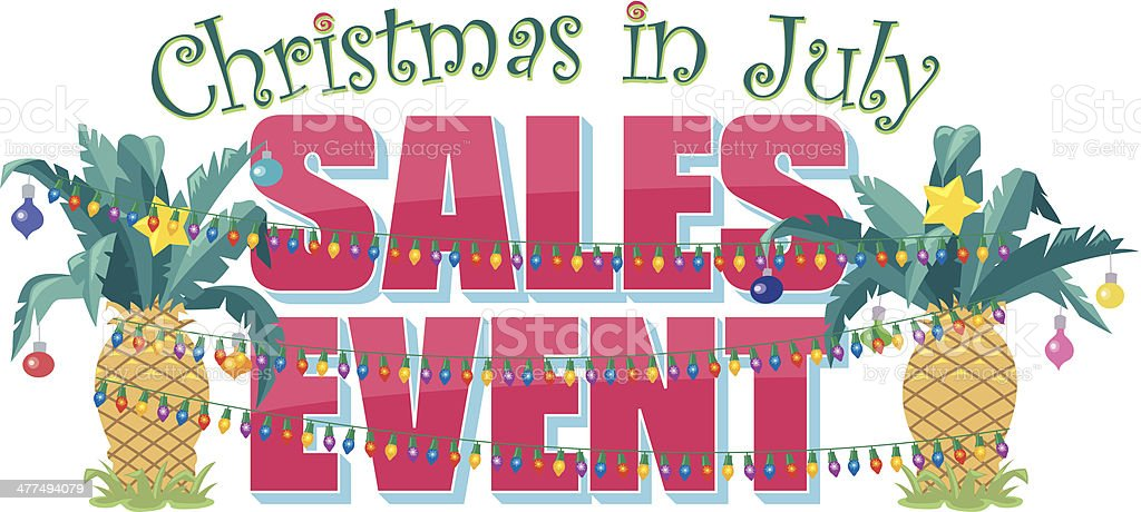 Christmas In July Clipart Free Download.Christmas In July Sales Event Stock Illustration Download