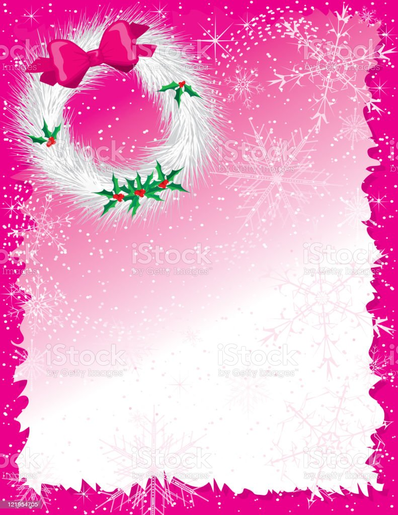 Christmas in Pink! royalty-free stock vector art