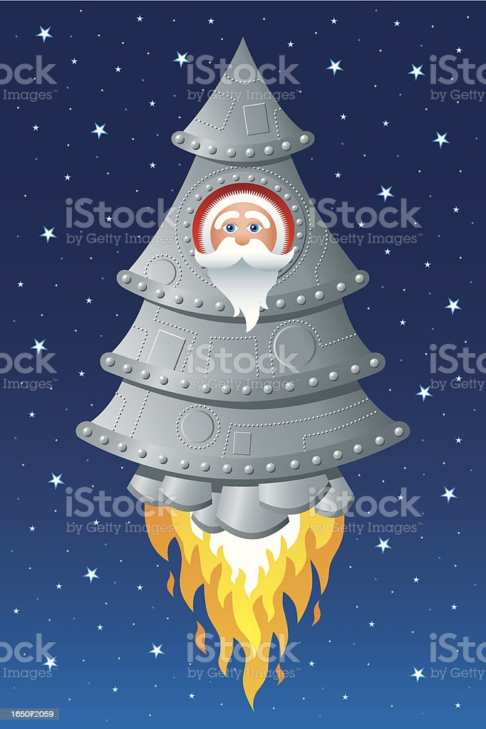 Christmas in space royalty-free stock vector art