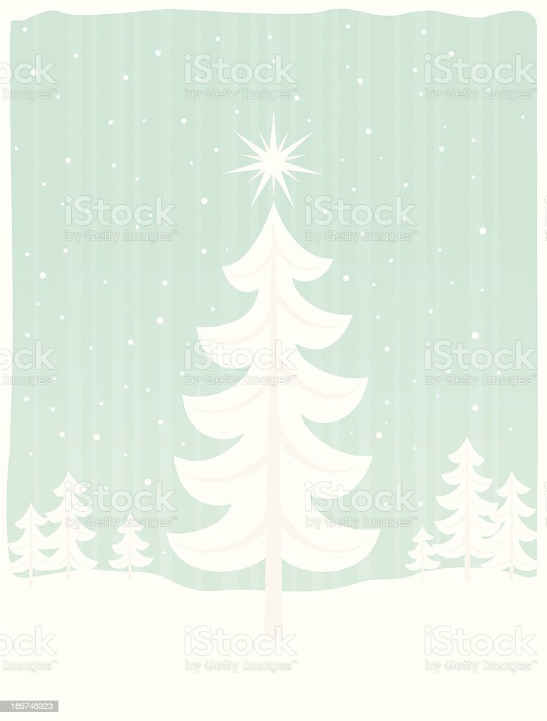 Christmas in the forest royalty-free stock vector art