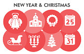 istock Christmas Infographic design template with icons. Birth of jesus Infographic visualization design on white background. Winter holiday template. Creative vector illustration for infographic. 1285397901