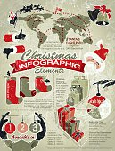Christmas Infographic Elements with Text