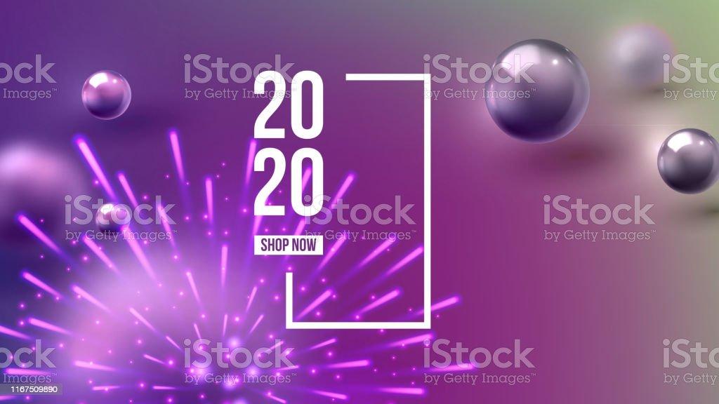 Christmas Invitation Card Celebrating 2020 Vector Stock