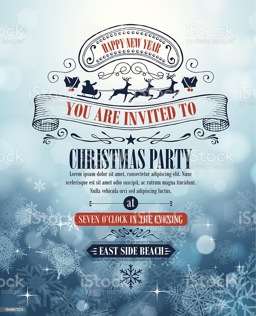 Christmas Invitation royalty-free christmas invitation stock vector art & more images of abstract