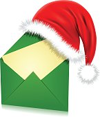 Illustration of a Santa Hat on a Letter (Pdf(6) and Ai(8) files are included)