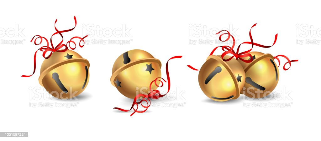 Christmas Jingle Bells vector art illustration