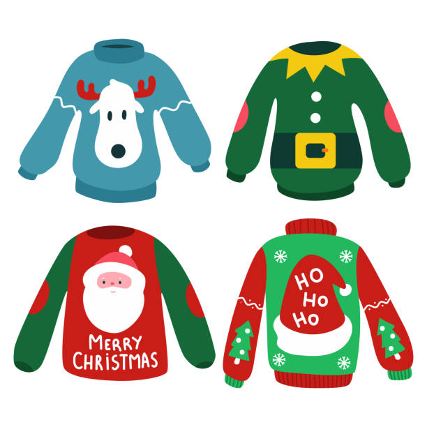 1 181 Ugly Christmas Sweater Illustrations Clip Art Istock