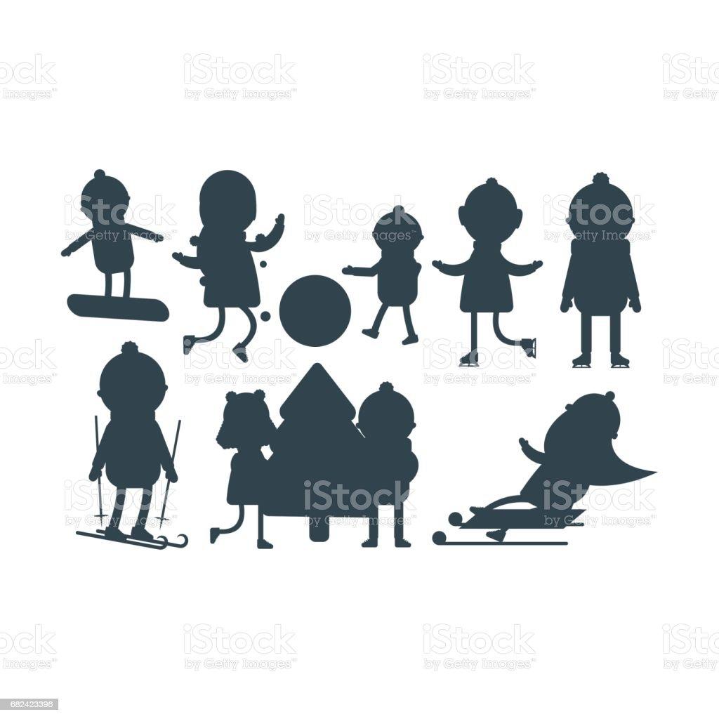 weihnachten kinder silhouette spielen winter spiele. Black Bedroom Furniture Sets. Home Design Ideas
