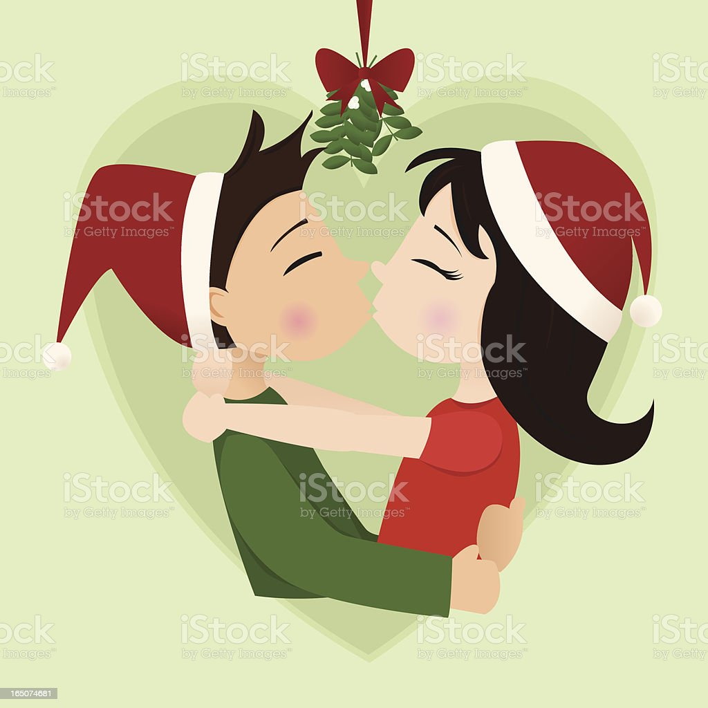 Christmas Kiss royalty-free christmas kiss stock vector art & more images of adult