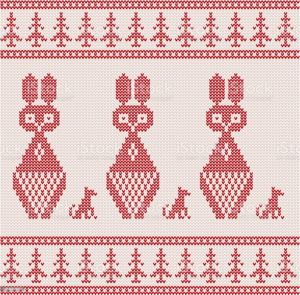 Christmas Knitted background royalty-free stock vector art
