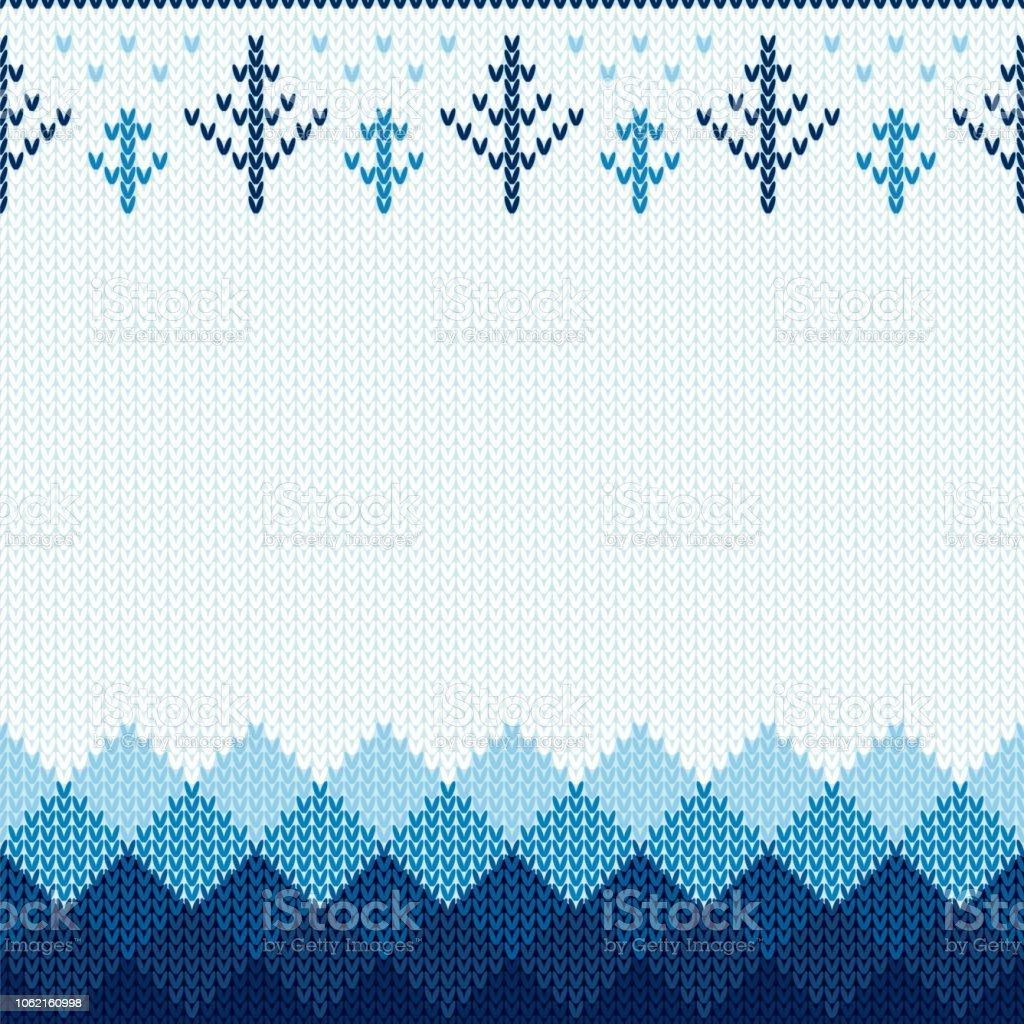 Ilustración de Patrón De Punto De Navidad Invierno Geométrica De ...