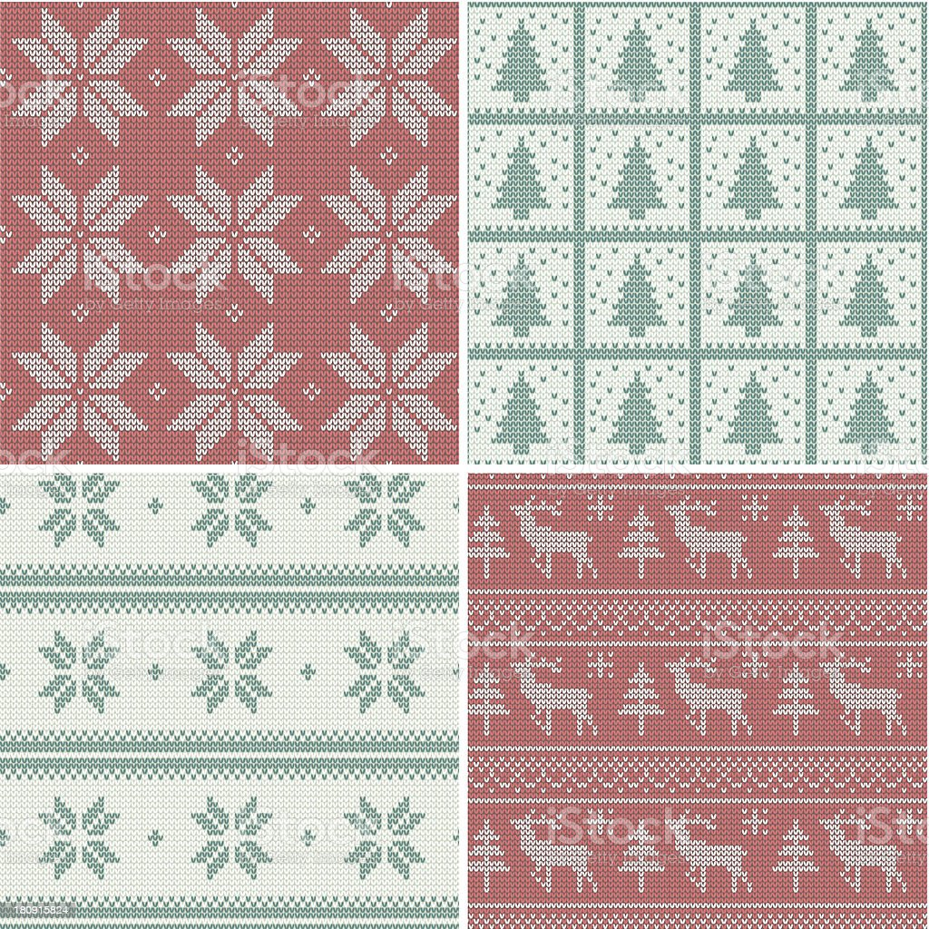Christmas knitted Scandinavian pattern royalty-free christmas knitted scandinavian pattern stock vector art & more images of abstract