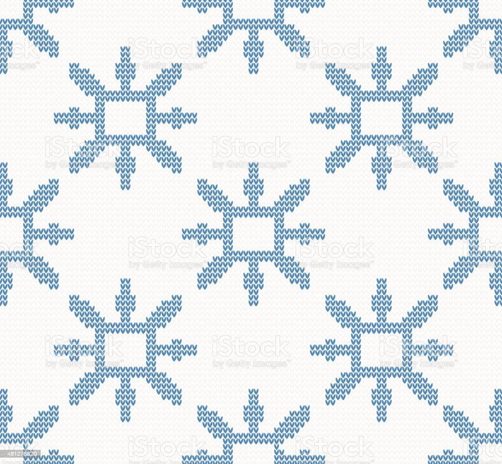 Ilustración de Patrón Sin Costuras De Navidad Tejida Con Snowflakes ...