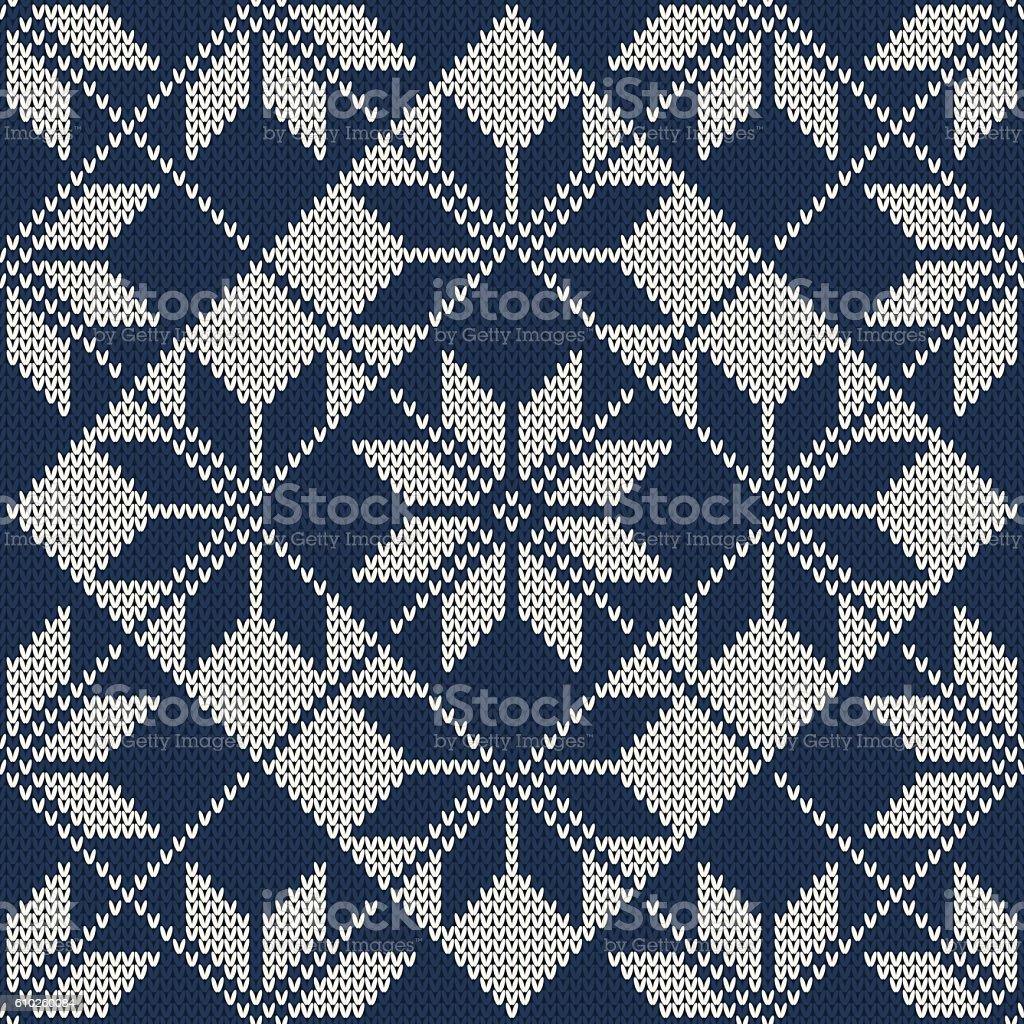 Christmas Knitted Sweater Design Seamless Knitting Pattern Stock ...