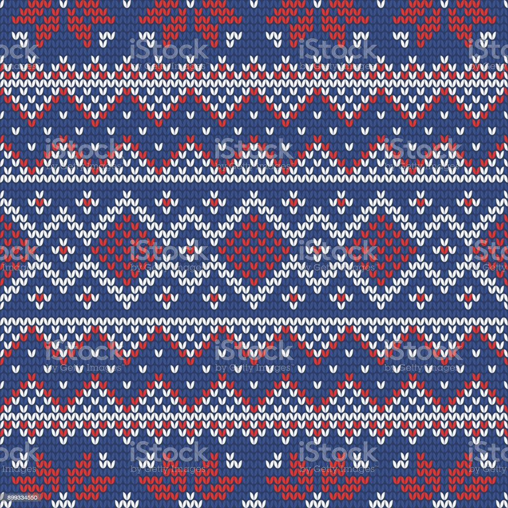 3a6bf8798 Christmas Knitting Seamless Pattern With Rhombus Stars And Zig Zag ...