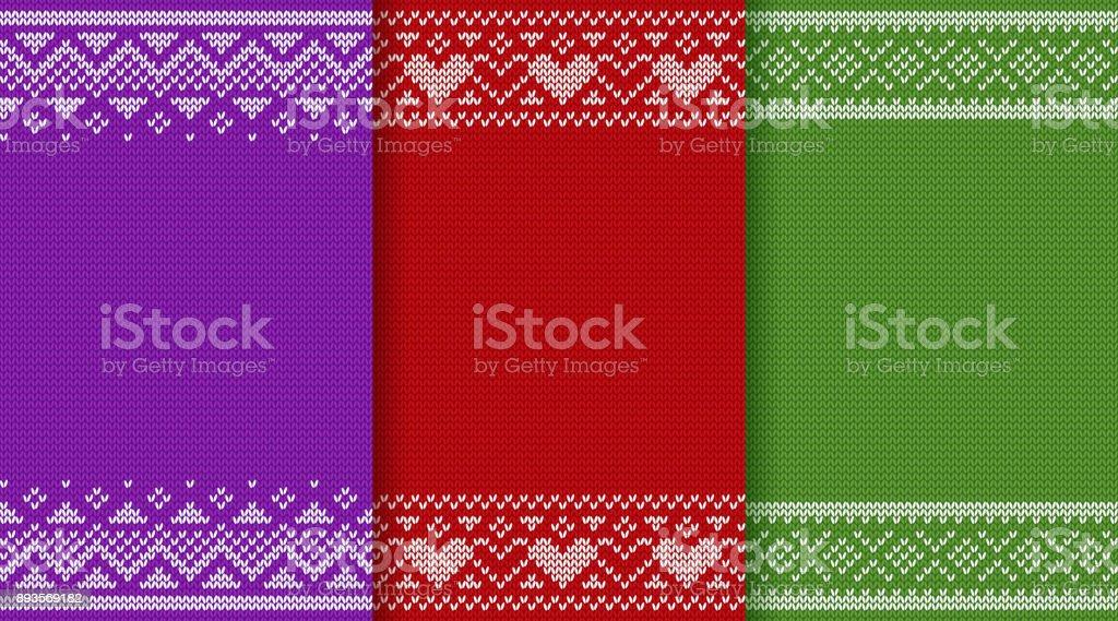 Christmas knitting texture. Vector illustration. vector art illustration